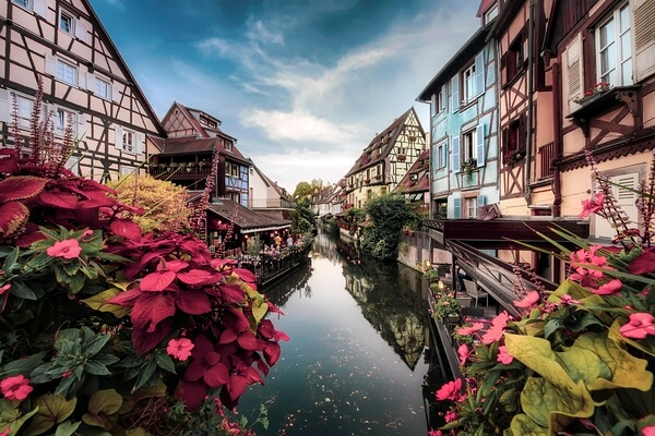 La Petite Venise, the most famous part of Colmar,