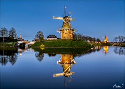 photography locations in Netherlands - Windmills of Dokkum in Friesland
