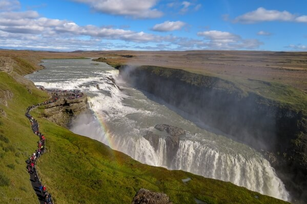 Gulfoss in September