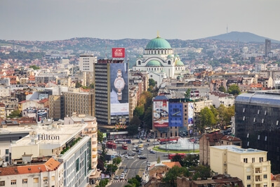 images of Belgrade - Belgrade from Slavija Hotel Rooftop