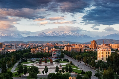 View of Bishkek from Damas Hotel