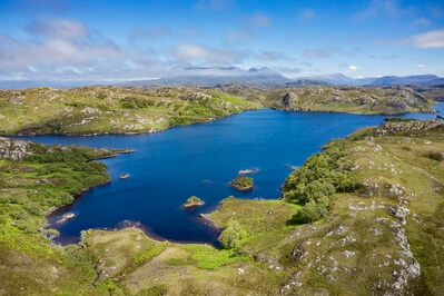 Aerial View of Loch Poll, Assynt
