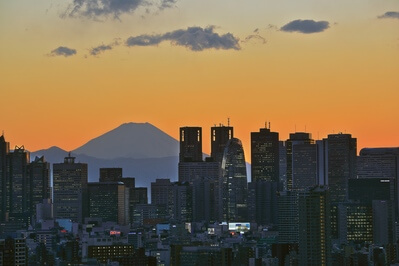Mount Fuji from Bunkyo Civic Centre Observation Deck