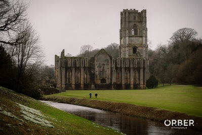 One of the many awesome compositions you can find in fountains abbey