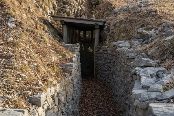 WWI Trenches at Mt Kolovrat