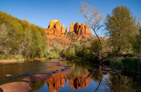 Oak Creek and Cathedral Rock reflections