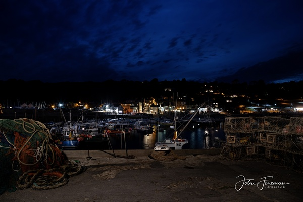 Lyme harbour at night