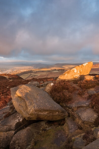 Over Owler Tor Catch Light