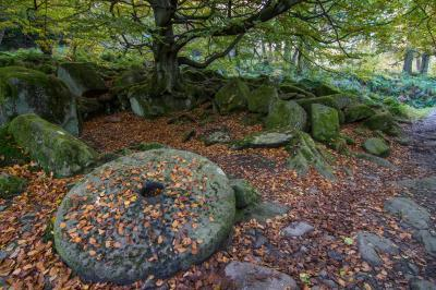 photography locations in Derbyshire - Padley Gorge Millstone