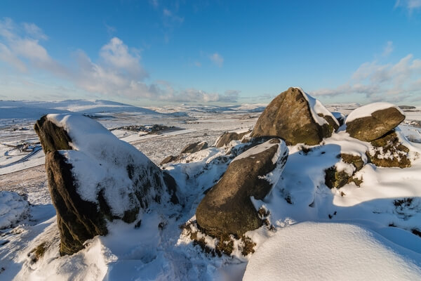Ramshaw Rocks Summit in Snow
