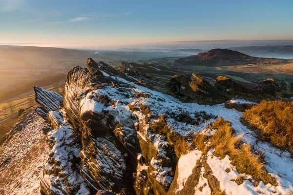 Ramshaw Rocks Winter Sunrise