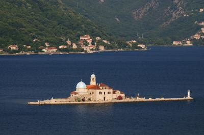 pictures of Coastal Montenegro - Perast Elevated View