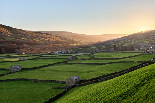 Gunnerside from above, Swaledale