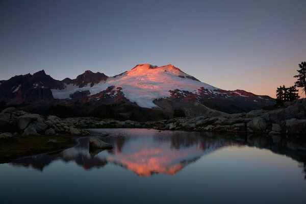 Alpenglow on Mt. Baker