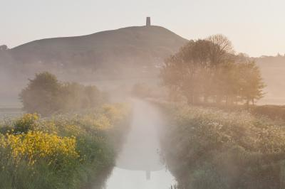 Somerset photo locations - Glastonbury Tor from the Canals
