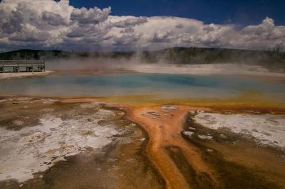 photos of Yellowstone National Park - Rainbow Pool – Black Sand Basin