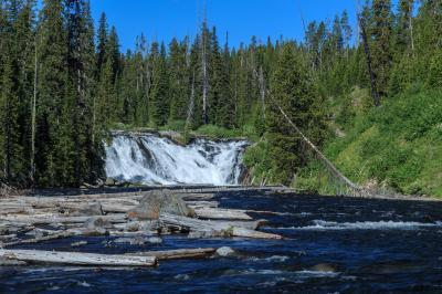 pictures of Yellowstone National Park - Lewis Falls