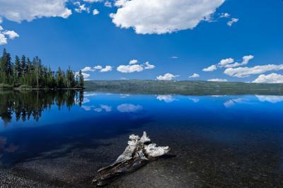 photos of Yellowstone National Park - Lewis Lake