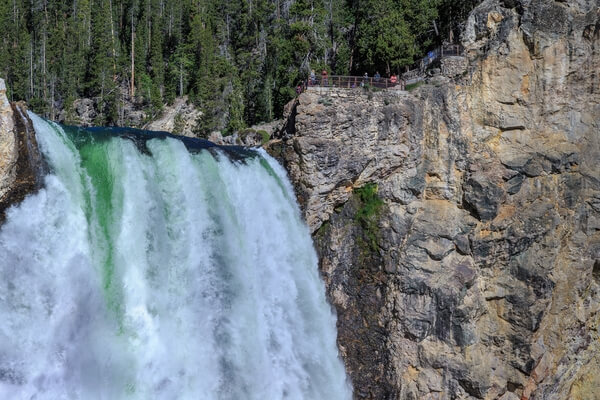 Lower Yellowstone Falls from Uncle Tom's Trail