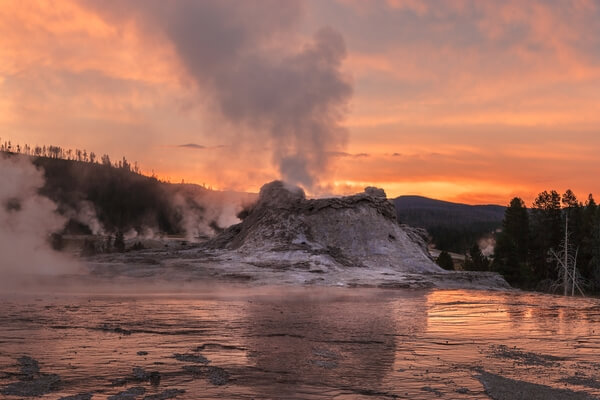 Dawn, Castle Geyser