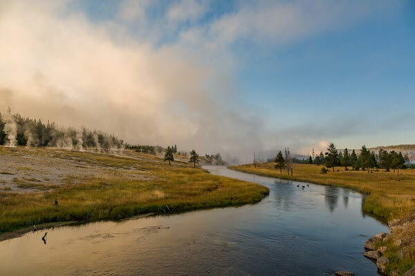 Firehole River from Highway 89 Bridge