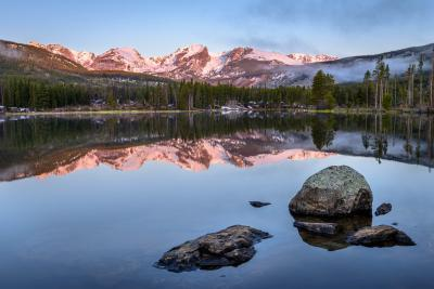 images of Rocky Mountain NP - BL - Sprague Lake