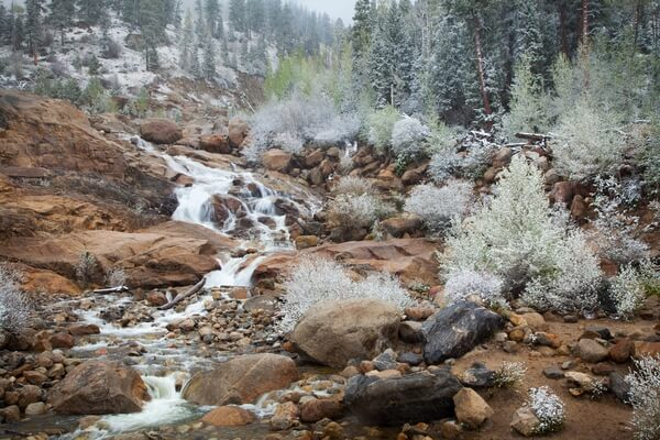 Alluvial Fan - spring, snow