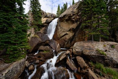 photo spots in Rocky Mountain National Park - WB - Ouzel Falls