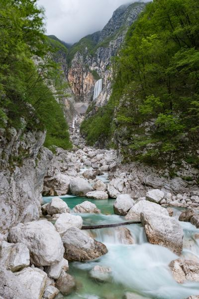 images of Soča River Valley - Boka Waterfall
