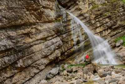 Soča River Valley photography guide - Diagonal Waterfall