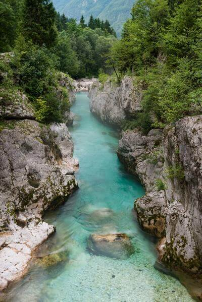 images of Triglav National Park - Soča River at Lepena