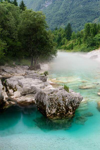 Triglav National Park photography locations - Soča River at Lepena