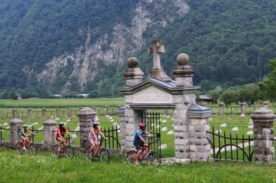 photo spots in Soča River Valley - Modrejce WWI Cemetery