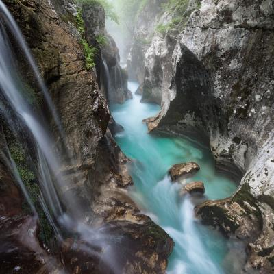 images of Triglav National Park - Velika Korita of Soča River