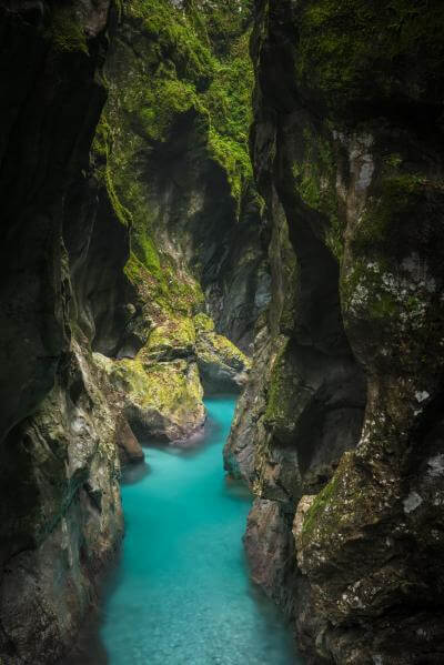images of Triglav National Park - Tolminka Gorge