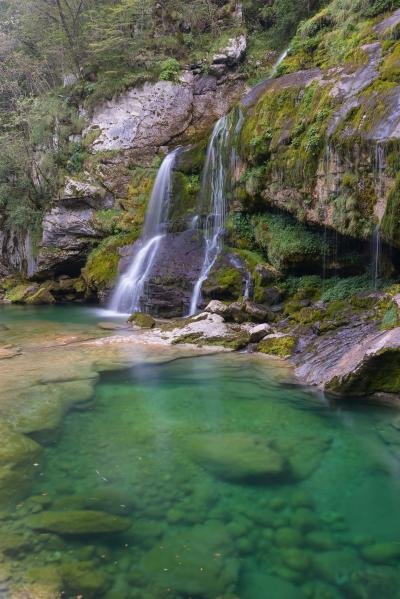 images of Soča River Valley - Virje Waterfall