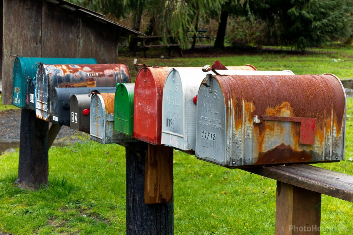 Colorful Mailboxes Along the Road