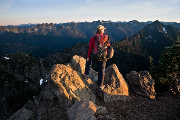 Hiker on Summit