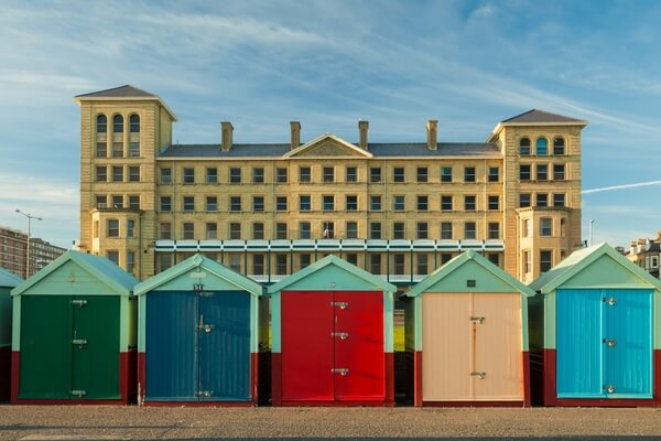 Beach huts in Hove