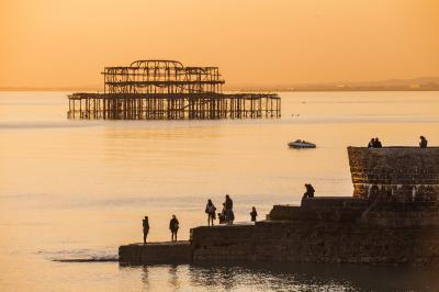 instagram spots in Brighton - West Pier ruins