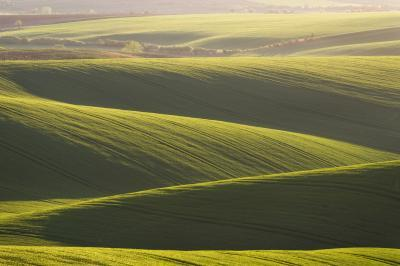Southern Moravia photo guide - Rolling Fields at Sunset