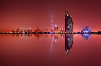 Dubai photo locations - Burj Al Arab from Palm Island