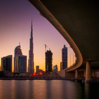 Dubai photo spots - Dubai Creek & Burj Khalifa View