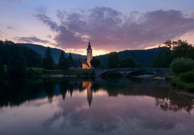 Triglav National Park photography spots - Lake Bohinj - St John's Church