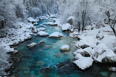 Triglav National Park photo locations - Soča River from the Suspension Bridge