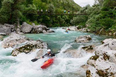photos of Triglav National Park - Soča River from the Suspension Bridge