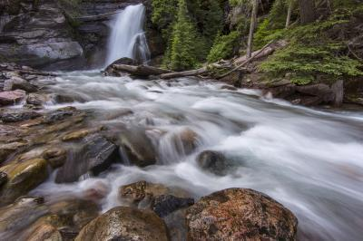 photography locations in Montana - Baring Falls