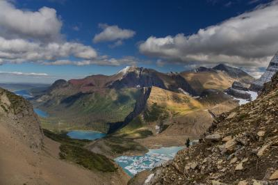 photo spots in Montana - Grinnell Glacier Overlook