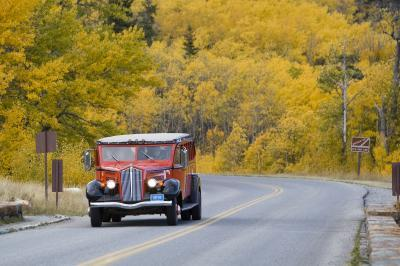 Montana photography locations - Red Jammer Buses
