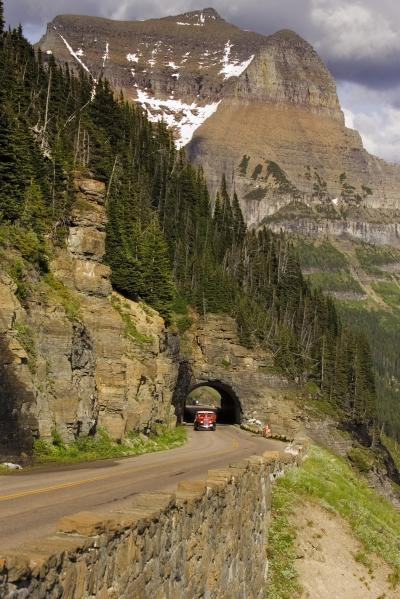 pictures of Glacier National Park - Red Jammer Buses